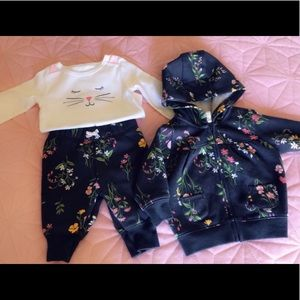 🛍Baby Girl Flower Leisure Outfit